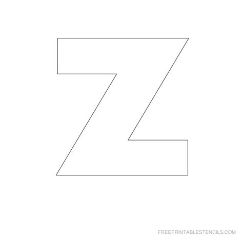 letter z template big letter printable stencils a to z free printable stencils
