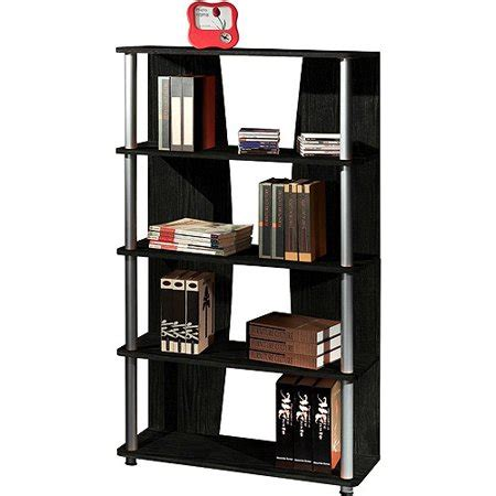 bookcase 5 shelf espresso geneva 5 shelf bookcase espresso walmart com
