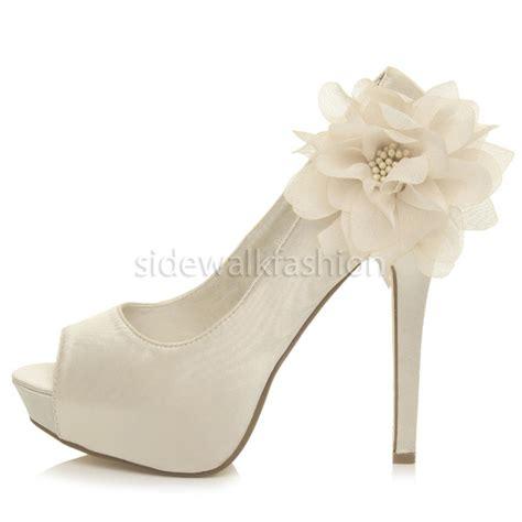 evening high heel shoes womens high heel platform peeptoe flower wedding
