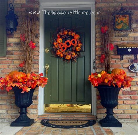 front door urn ideas decorating the front door for fall using planters 171 the