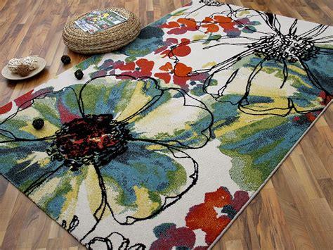 teppich blumen designer teppich arizona blumen bunt teppiche