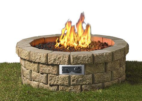 Hudson Stone Gas Fire Pit Kit Hud 46 K Gas Firepit Kit