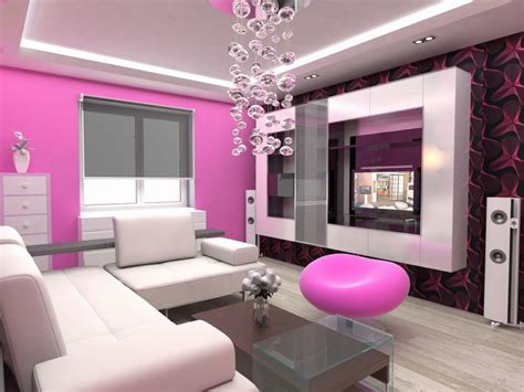 beautiful pink small apartment sized living room furniture