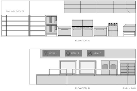 Cafeteria Kitchen Design by Restaurant Floor Plan How To Create A Restaurant Floor Plan