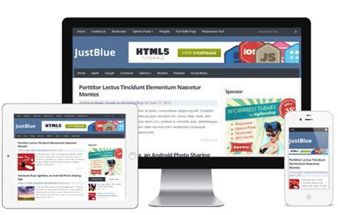 justblue free premium responsive wordpress theme