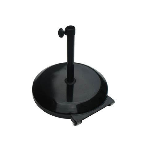 Patio Umbrella Base With Wheels California Umbrella 75 Lb Patio Umbrella Base With Wheels In Black Cfmt172 Black The Home Depot