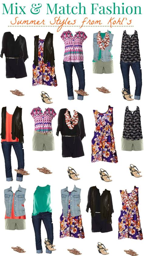Mix Match Wardrobe kohls mix and match summer wardrobe style on