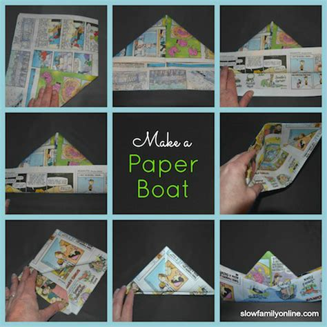 how to make a paper boat from newspaper how to make a paper boat slow parenting