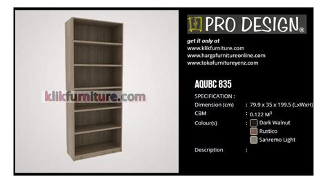 Lemari Rak Buku Olympic aqubc 835 pro design lemari rak buku promo