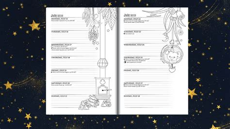 southern hemisphere planner   magical  coloring