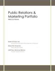 public relations and marketing portfolio