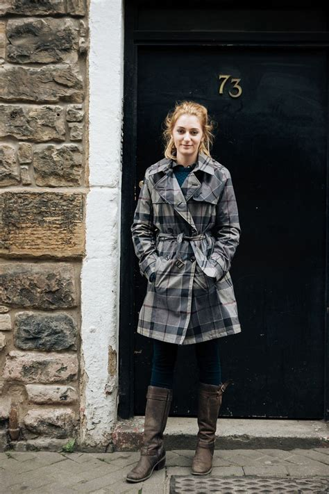 Barbour Jacket Edinburgh | lucy was spotted in edinburgh wearing the crieff trench