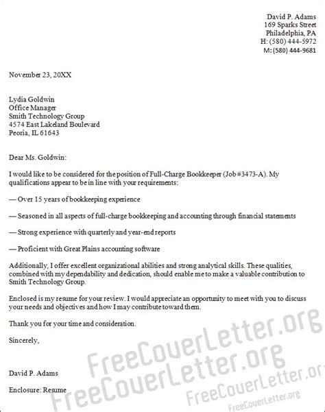 Dea Cover Letter by Sle Cover Letter For Bookkeeper Http Www Resumecareer Info Sle Cover Letter For