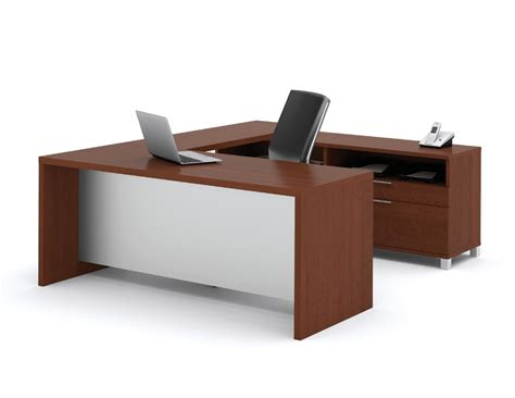 u shape desk bestar pro linea u shaped desk
