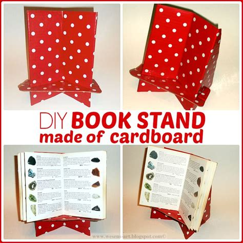 How To Make A Book Out Of Cardboard And Paper - 25 best ideas about book stands on recipe and