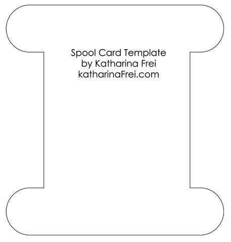 embroidery floss card template spool card template my sketches and templates