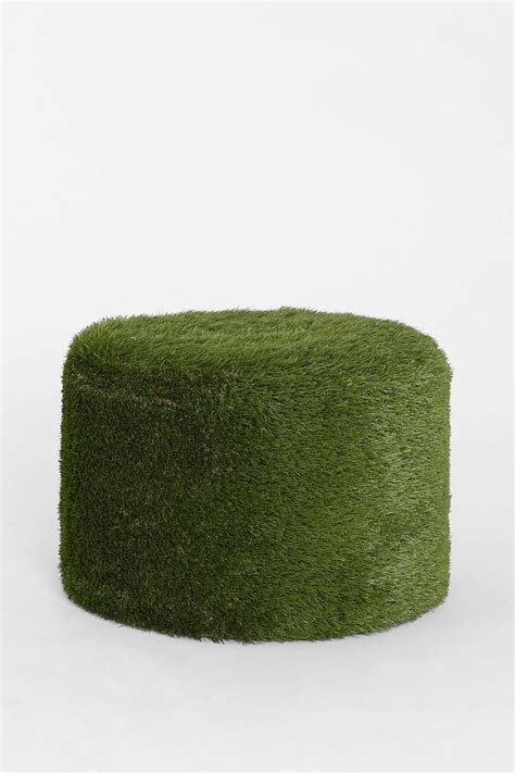 grass ottoman grass stool urban outfitters soccer and ottomans