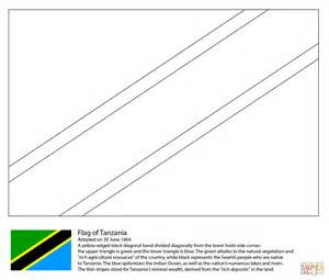 flag of tanzania coloring page free printable coloring pages