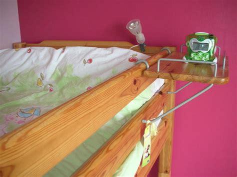 tablette pour lit lit mezzanine en pin massif matelas et tablette