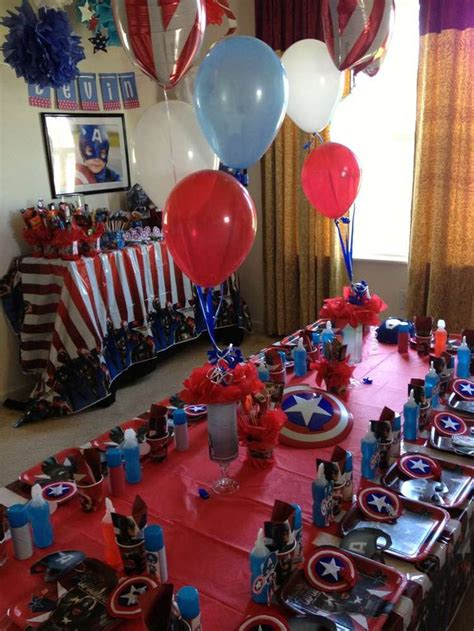 american themed party europe captain america birthday party ideas more captain