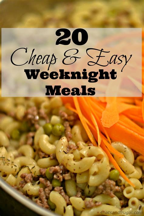 great and easy recipes delicious budget friendly food books 20 cheap easy weeknight meals 4 hats and frugal