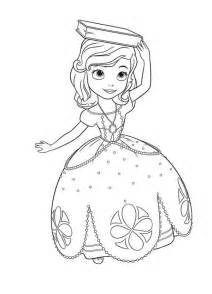 princess sofia the first with book on her head coloring