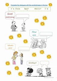 Best introduce yourself ideas and images on bing find what you esl introductions and greetings worksheets m4hsunfo