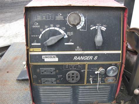 lincoln ranger 8 portable welder generator