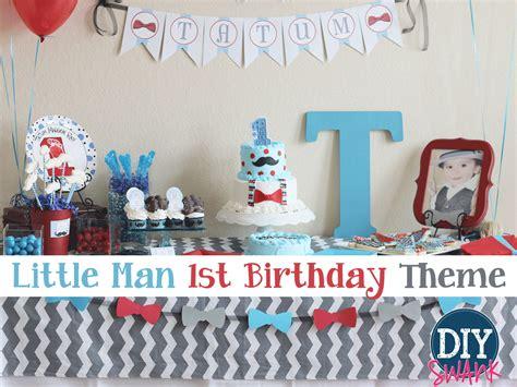 Little Man  Ee  First Ee    Ee  Birthday Ee   Party Diy S