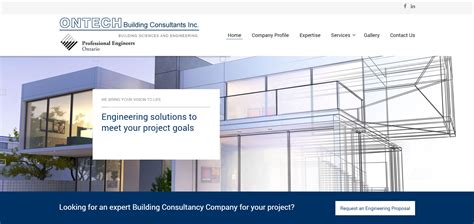 design center engineering consultants toronto website design website online marketing
