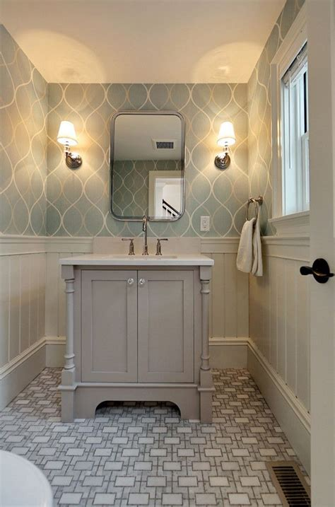 wallpaper ideas for bathrooms best 25 bathroom wallpaper ideas on pinterest half