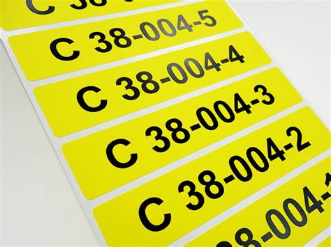 Etiketten Rolle Bedruckt by Bedruckte Etiketten Auf Rollen Nummerierte Etiketten
