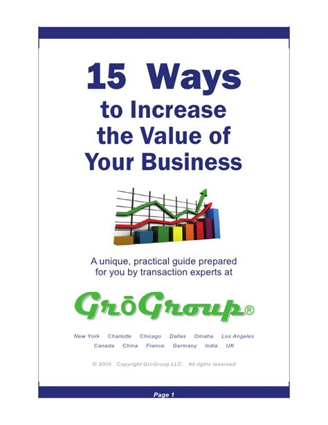 15 ways to increase value