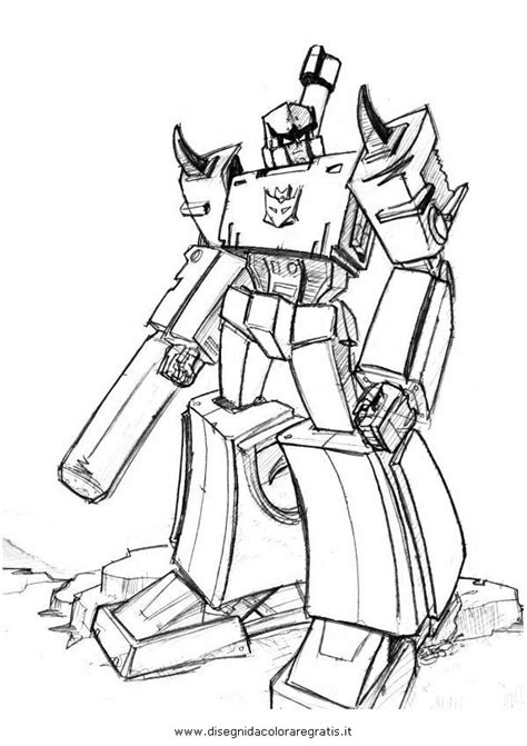 disegno transformersmegatron personaggio cartone