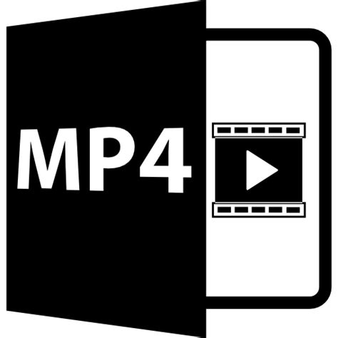 format video mp4 mp4 file format symbol free interface icons