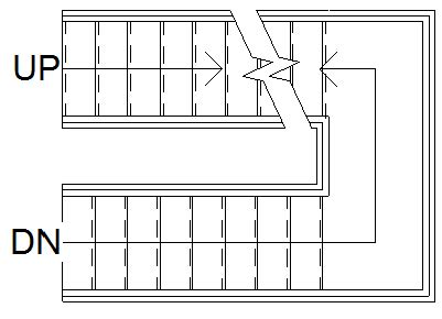 Stairs Floor Plan Symbol by Section Cut Symbol