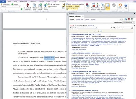 email format lexisnexis lexis for microsoft office using clauses contracts