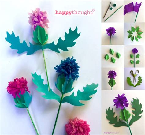 scottish arts and crafts for how to make a paper thistle pdf templates