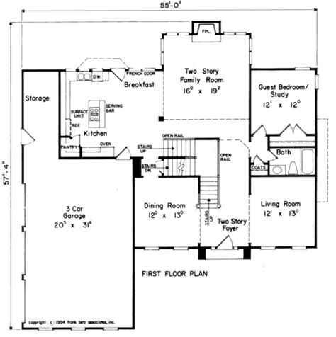 how to show stairs in a floor plan jessica house floor plan frank betz associates