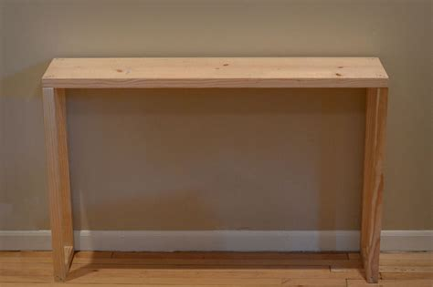 Diy Parsons Desk Easy Parsons Table Console Entryway Table