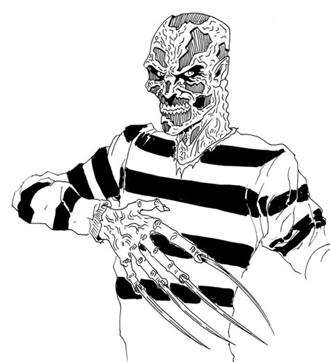 free coloring pages of freddy krueger