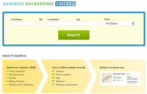 Person Background Check Free Announcing Advancedbackgroundchecks A Website That Provides Free Search