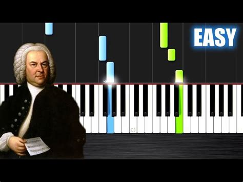 bach air on the g string piano tutorial bach air on the g string easy piano tutorial by plutax