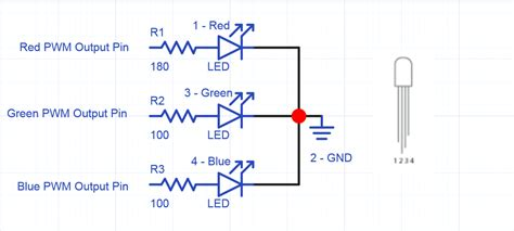 resistor value for led 5v using rgb leds mbed