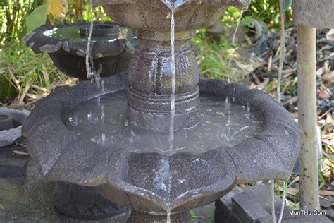 Air Mancur Batu Untuk Hiasan Meja Model Ulir Bola Putar jual air mancur teratai batu alam merapi munthu