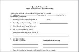 Nanny sample contract construction contract template renovation