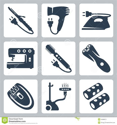 Hair Dryer X5 vector and garment care appliances stock vector