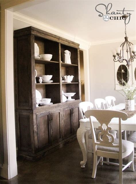 Farmhouse Dining Room Cabinet Diy Dining Room Sideboard And Hutch Restoration Hardware
