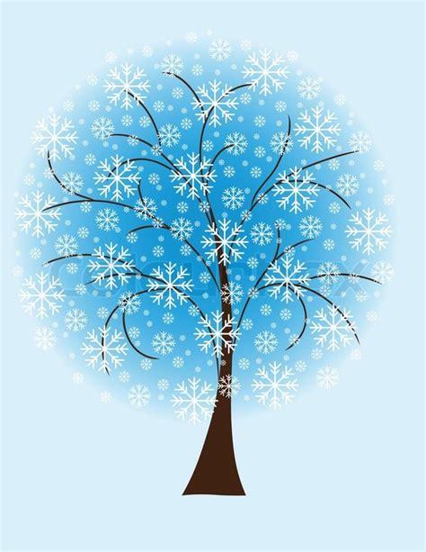 winter tree snowflakes stock vector winter tree from snowflakes by the stock vector colourbox