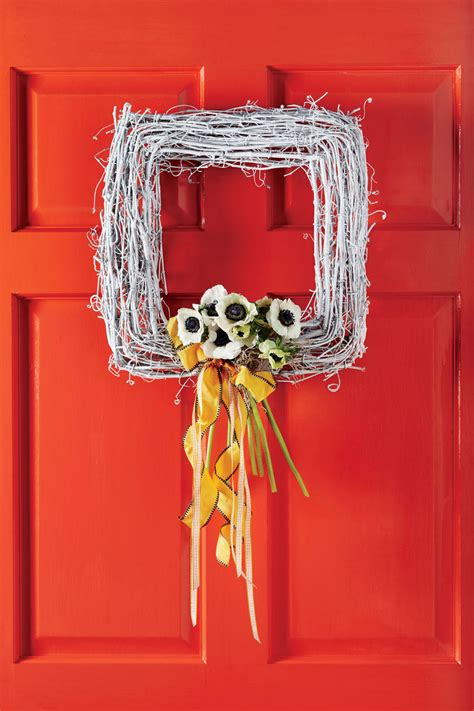 diy wreaths  decorate  front door  easter